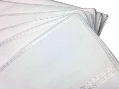 6'lı  Delta Ara Boşluklu Düz 50x85 Kadife Havlu Beyaz