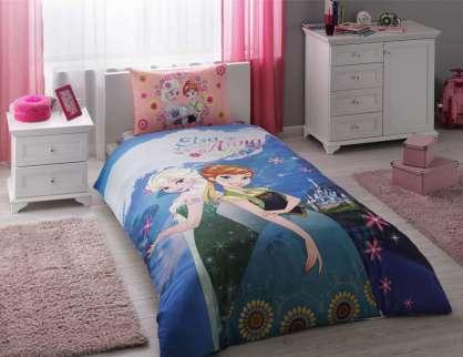 TAÇ Disney Frozen Elsa  Anna Nevresim Takımı
