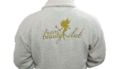 Kurumsal Havlu Logo Nakışlı Özel Tasarım 50x90 Sisters Beauty Club