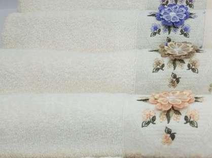 12'li Şaheser Kelebek Serisi 3D Çiçek Nakışlı 30*50 Mutfak Havlusu
