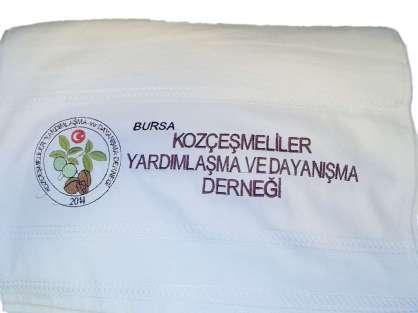 Derneklere Özel Logolu Sloganlı Hediyelik Havlu