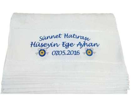 İsim Yazılı 50x80 cm. Sünnet Havlusu Dağıtmalık Hediye