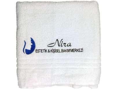 Logolu Kurumsal Güzellik Merkezi Duş- Sedye Havlusu 70x140