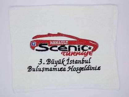 Kurumsal Havlu Logo Nakışlı Özel Tasarım 50x90 Renault Scenic