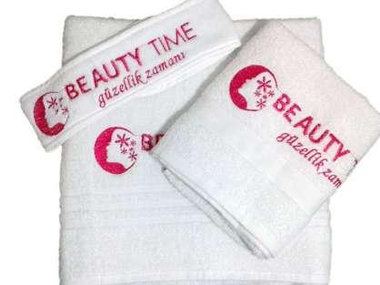 Logolu Kurumsal Güzellik Salonu Havlu Set Beuty