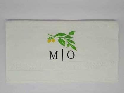 Kurumsal Havlu Logo Nakışlı Özel Tasarım 50x90 Beyaz Renkli
