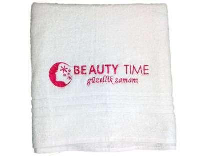 Logolu Kurumsal Güzellik Merkezi 70x140 cm. Banyo Duş Havlusu Beuty