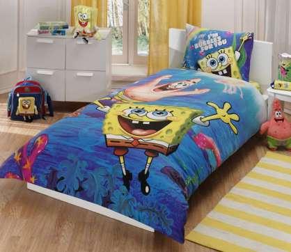 Taç Lisanslı Sponge Bob Underwater Nevresim Takımı