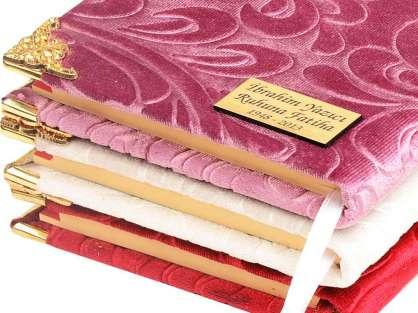 Özel Kadife Kaplı Yasin İsim Yazılı  Etiketli Çanta Boy 50 adet