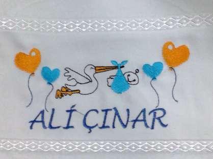 İsme Özel Yazılı Bebek Mevlüt Havlusu Ali