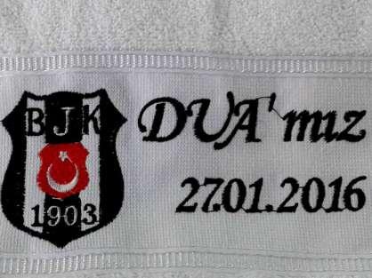 Takım Logolu İsim Yazılı Yeni Doğan Havlusu BJK