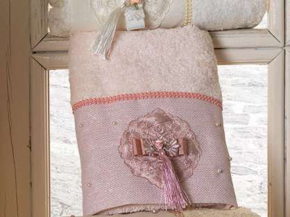 Fransız Güpürlü 50x90 Bamboo Havlu Serena Anna Karina Premium
