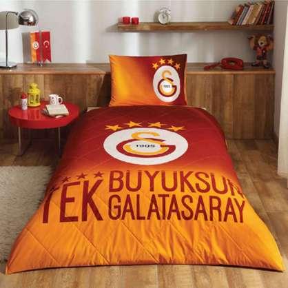 Taç Lisanslı Galatasaray 4 Yıldız Yatak Örtüsü Seti