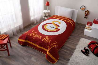 Taç Lisanslı Galatasaray Sarı Kırmızı Yatak Örtüsü