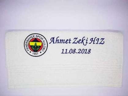 İsim Yazılı 50x90 Sünnet Havlusu Dağıtmalık Hediye Tek Kat Ahmet Zeki Hız