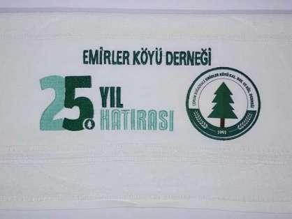 Kurumsal Havlu Logo Nakışlı Özel Tasarım 50x90 Emirler Köyü Dernek Hatırası