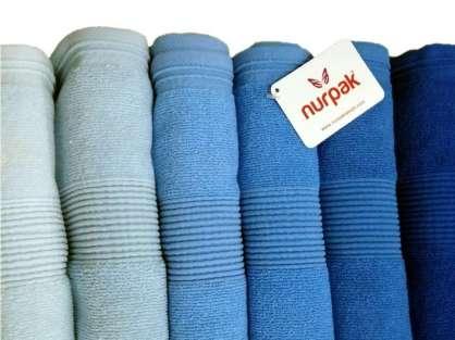12'li Nurpak Zümrüt Mavi Ton 50*90 Ağır Gramajlı Havlu