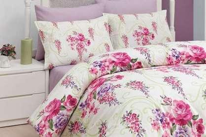 Uyku Seti Belanay Çift Kişilik Floral Fuşha