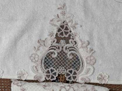 Fransız Güpürlü 50x90 Bamboo Havlu Asya Anna Karina