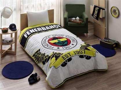 Taç Lisanslı Fenerbahçe Sarı Lacivert Yatak Örtüsü