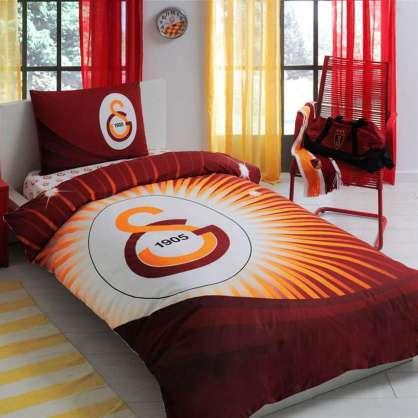 Taç Galatasaray Yıldız Logo Tek Kişilik Nevresim Takımı