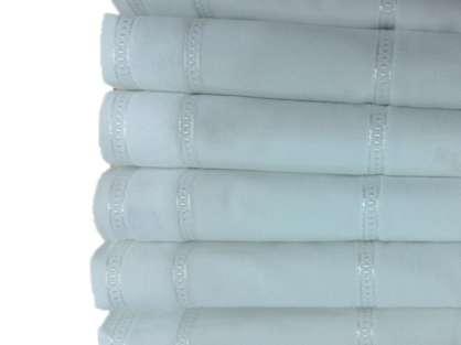 12'li Osmanlı İşlemelik 50x90 Yonca Boş Havlu Beyaz