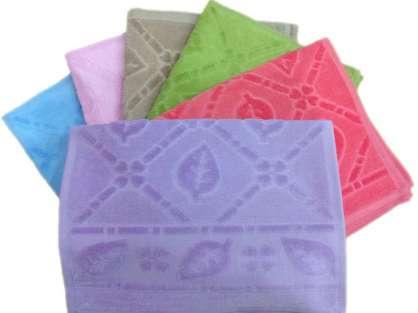 6lı Paket Kadife Jakarlı Osmanlı Renkli 30x50 Mutfak Havlusu