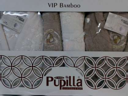 Banyo Vip Bamboo Güpürlü  Bornoz Seti Pupilla Üçkoç