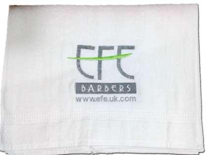 Kuaför Havlusu Logo Nakışlı Özel Tasarım 50x90 Ağır Orient Beyaz