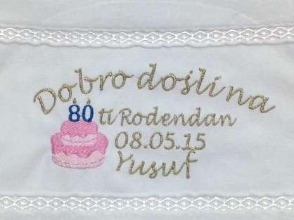 Doğum Günü İsme Özel Yazılı Dağıtmalık 30x50
