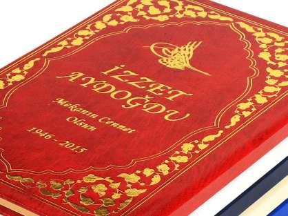 İsimli Altın Varak Baskılı Ciltli Şamua Kağıt 208 Sayfa Cep Boy  50 Adet